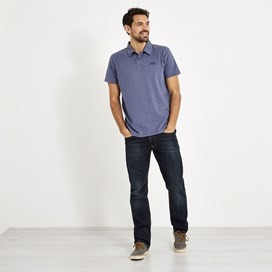 Quay Branded Polo Shirt Blue Indigo Marl