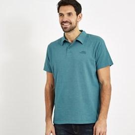 Quay Branded Polo Shirt Harbour Blue Marl