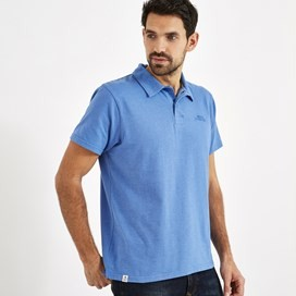 Quay Branded Polo Shirt Aztec Blue Marl