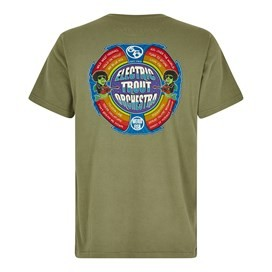 Electric Trout Artist T-Shirt Khaki Green