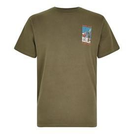 Weird Fishing Artist T-Shirt Khaki Green