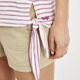 Hennie Striped Cotton T-Shirt Purple Orchid