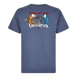 Fished As A Newt Artist T-Shirt Blue Indigo
