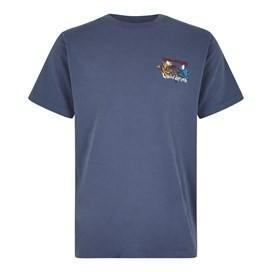 Fished As A Newt Artist T-Shirt Blue Indigo