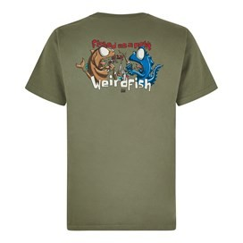 Fished As A Newt Artist T-Shirt Khaki Green