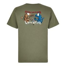 Fished As A Newt Artist T-Shirt Khaki Green
