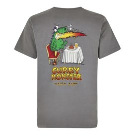 Curry Monster Artist T-Shirt Steel Grey