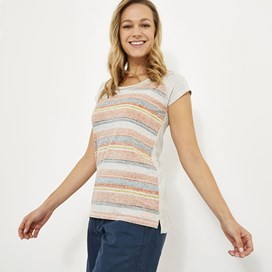 Rosanna Printed Striped T-Shirt Cantaloupe