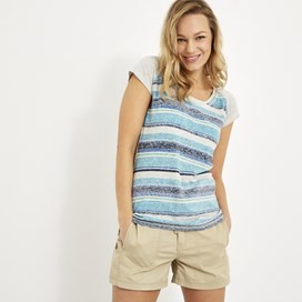 Rosanna Printed Striped T-Shirt Ultramarine