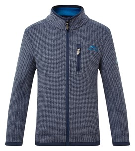 Goby Full Zip Grid Fleece Dark Navy