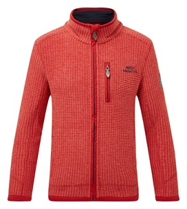 Goby Full Zip Grid Fleece Dark Red