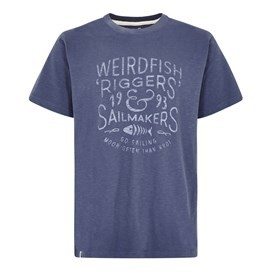 Riggers Branded Graphic T-Shirt Blue indigo