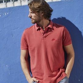Lenny  Garment Dyed Polo Shirt Baked Apple