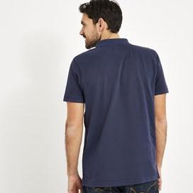Lenny Garment Dyed Polo Shirt Maritime Blue
