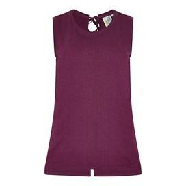 Berti Slub Cotton Vest Purple Potion