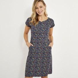 Biscayne Printed Jersey Dress Ink