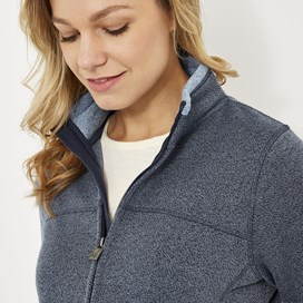 Sienna Full Zip Soft Knit Jacket Dark Navy