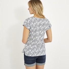 Paw Paw Printed Jersey T-Shirt Dark Navy