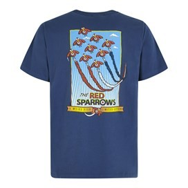Red Sparrows Artist T-Shirt Blue Indigo