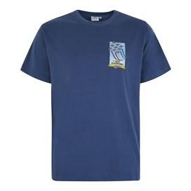 Red Sparrows Artist T-Shirt Blue Indigo