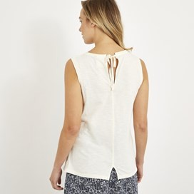 Berti Slub Cotton Vest Light Cream