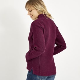 Holly Full Zip Classic Macaroni Sweatshirt Purple Potion