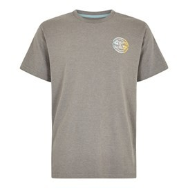 Summer Surf Branded Print T-Shirt Dusty White Marl