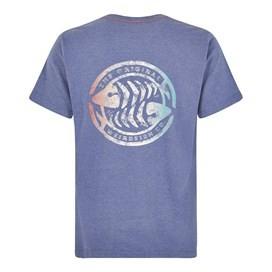 Summer Surf Branded Print T-Shirt Blue Indigo Marl