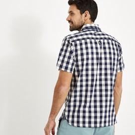 Corrib Gingham Short Sleeve Shirt Dusty White