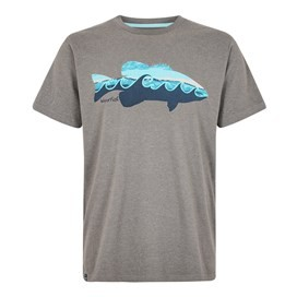 Trout Graphic T-Shirt Steel Grey Marl