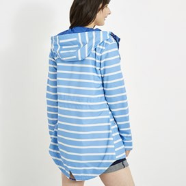 Antonia Striped Showerproof Jacket Cool Blue