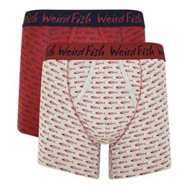 Lyman Boxer Shorts Twin Pack Retro Red