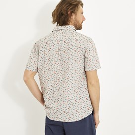 Elm Short Sleeve Patterned Shirt Soft Grey