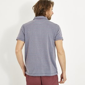 Hathern Indigo Look Stripe Polo Indigo