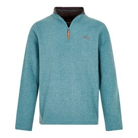 Newark 1/4 Zip Grid Fleece Sweatshirt Harbour Blue