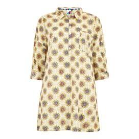 Georgina Printed Cotton Shirt Light Cream
