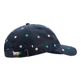 Alma Polka Dot Embroidered Hat Dark Navy