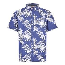 Mayo Hawaiian Short Sleeve Shirt Blue Indigo