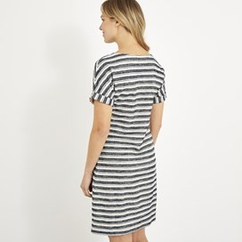 Brit Stripe Jersey Dress Honeydew