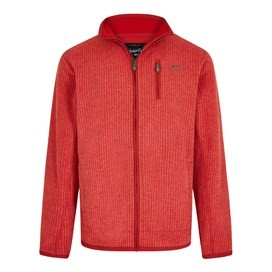 Ross Full Zip Grid Fleece Dark Red