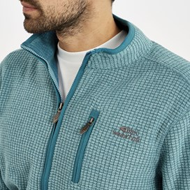 Ross Full Zip Grid Fleece Harbour blue
