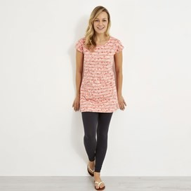Ashton Embroidered Stripe Tunic Pale Coral
