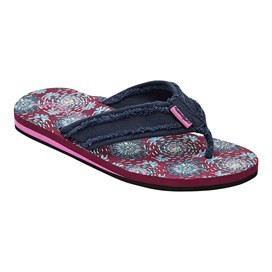 Salcombe  Printed Flip Flop Purple Potion
