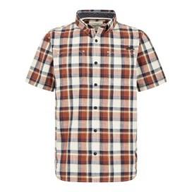 Clane Slub Check Short Sleeve Shirt Paprika