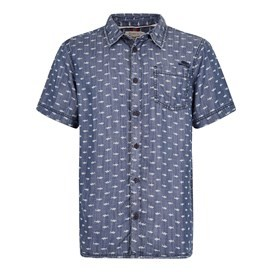 Crosby Printed Tencel Shirt Denim