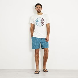 Barona Printed Board Shorts Harbour blue