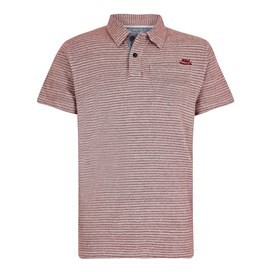 Lydney Cotton Grindle Fine Stripe Polo Retro Red