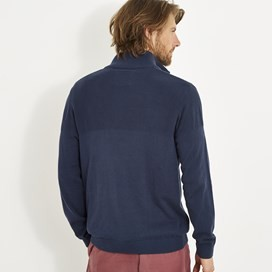 Kai Cotton 1/4 Zip Dark Navy