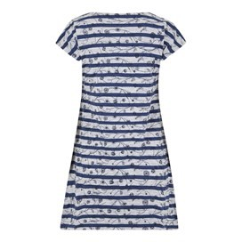 Ashton Embroidered Stripe Tunic Dark Navy