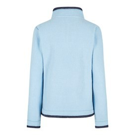 Beyonce 1/4 Zip Grid Fleece Cool Blue